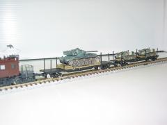 EF57+チキ7000形+61式戦車+60式自走106mm無反動砲x2