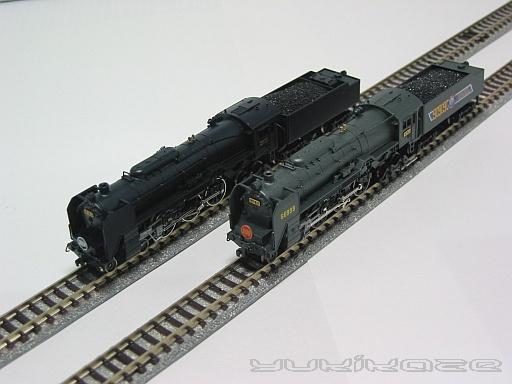 C62 48号機&50号機(やや上空)