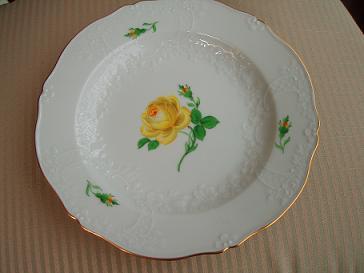 マイセンの黄バラ