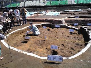 弥生の竪穴式住居