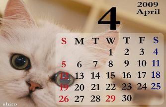 4月カレンダーs