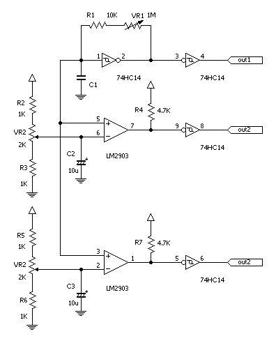 発振周波数とデューティ比を独立して変えられるオシレータ3