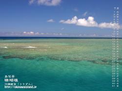 珊瑚礁,デスクトップカレンダー