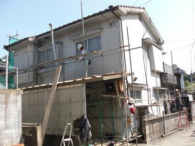 H田邸外壁改修工事~着手