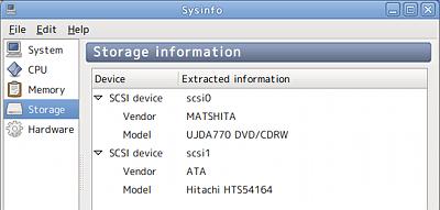 Ubuntu Sysinfo システム情報 ハードウェア ハードディスク