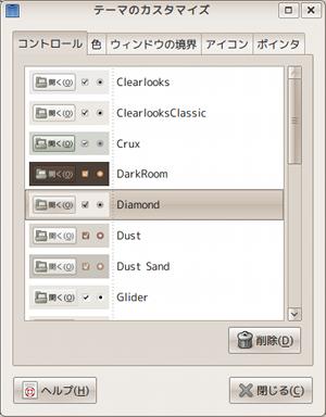 Ubuntu GNOME-LOOK デスクトップテーマ カスタマイズ