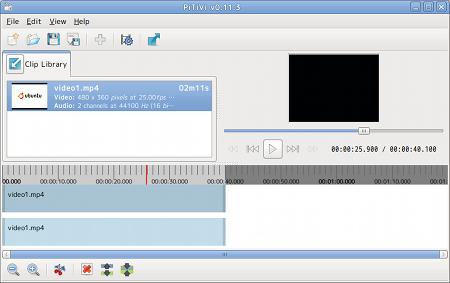 Ubuntu PiTiVi 動画編集
