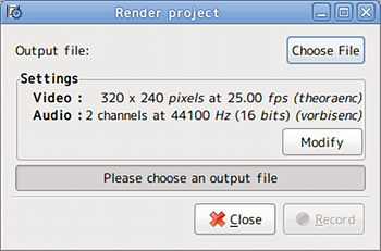 Ubuntu PiTiVi 動画編集 動画ファイル保存