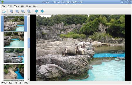 Ubuntu Mirage 画像ビューア